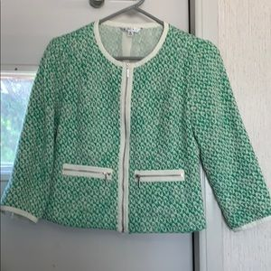 CAbi Green Blazer Size 2 with Pockets